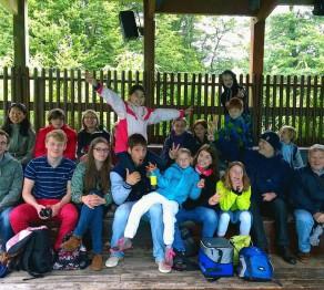 Gruppenfoto im Zoo von Amnéville